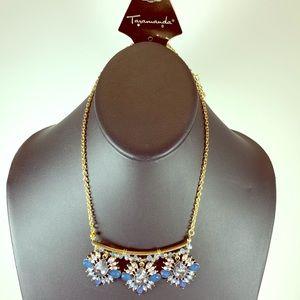 5/$25 Gold Blue Flower Short Necklace